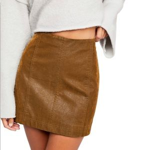 Free People Modern faux-leather mini skirt